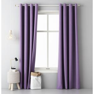 Kvalitní jednobarevný závěs fialové barvy