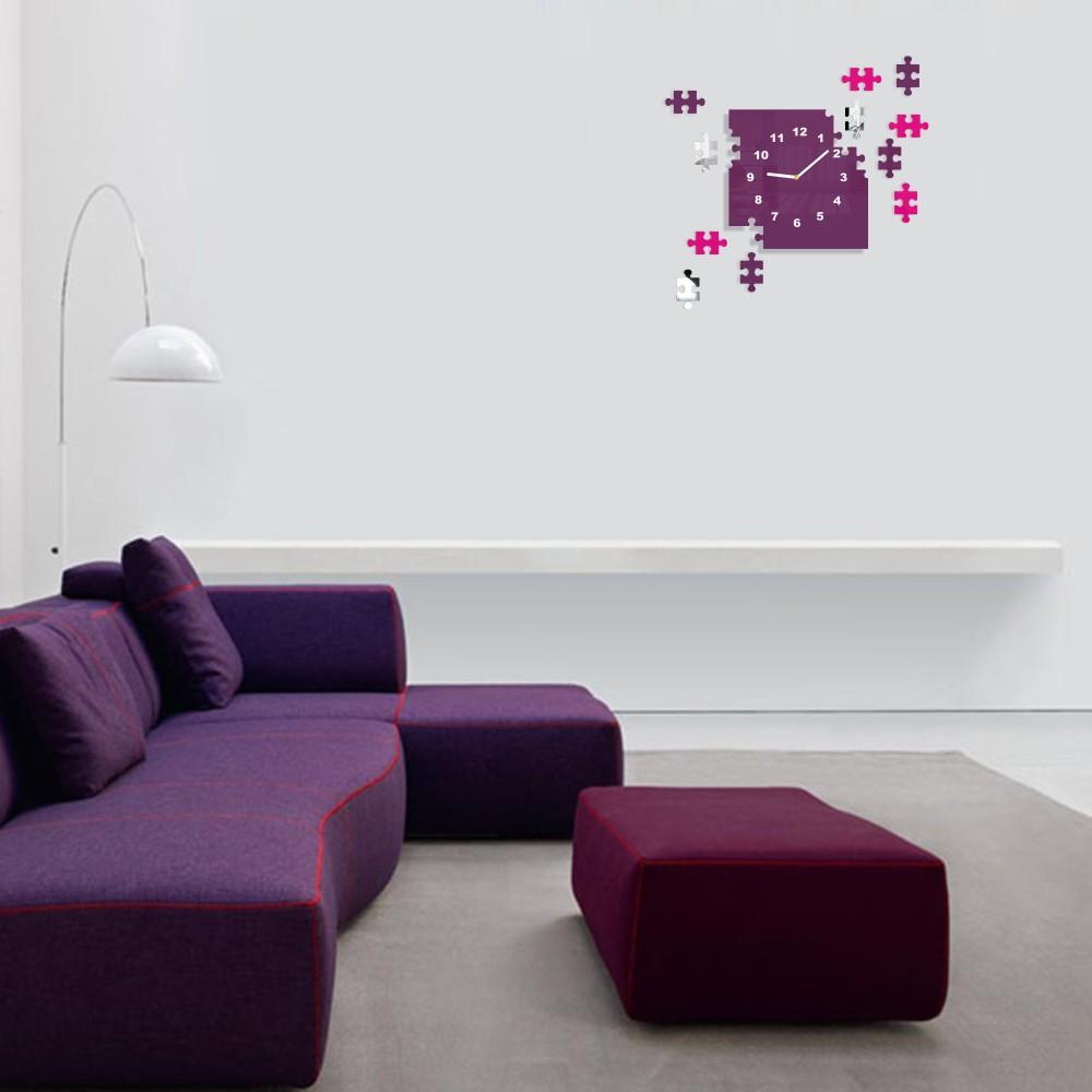 Puzzle moderní hodiny na stěnu