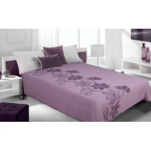 Luxusní oboustranný přehoz na postel odstíny fialové barvy