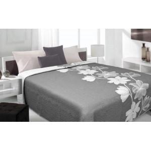 Luxusní oboustranný přehoz na postel odstíny šedé barvy