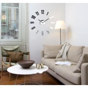 Zrcadlové nástěnné hodiny do obýváku