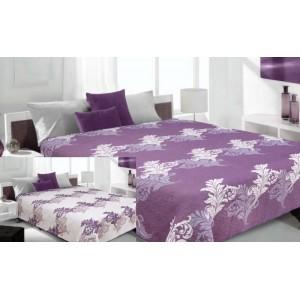 Přehoz na fialové barvy s krémovými listy