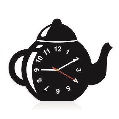 Dekorační kuchyňské hodiny ve tvaru čajník