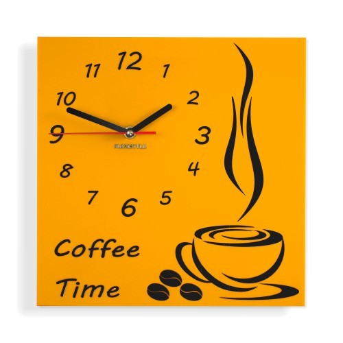 Coffee Time nástěnné kuchyňské hodiny