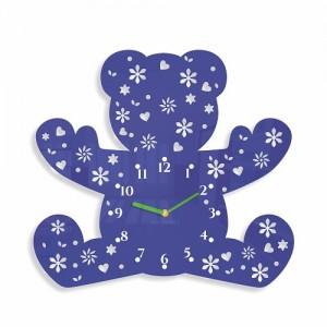 Dětské nástěnné hodiny ve tvaru medvídka