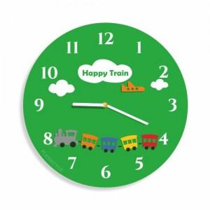 Dětské nástěnné hodiny s motivem vláčků