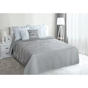 Luxusní přehoz na postel šedé barvy