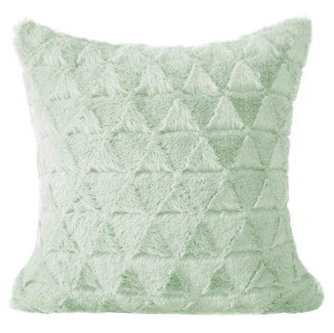 Dekorační potah na polštář v zelené barvě