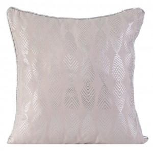 Růžový dekorační povlak na polštář s potiskem