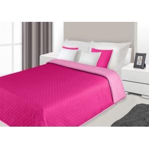 Přehoz na postel růžové barvy s prošívaným vzorem