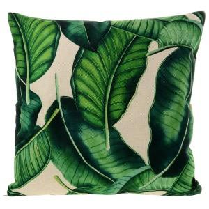 Lněný povlak na polštář v zelené barvě