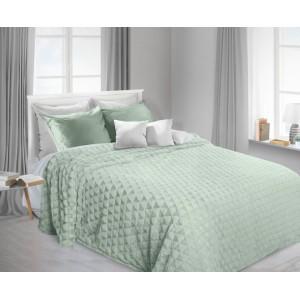 Mátová deka na postel s abstraktním vzorem
