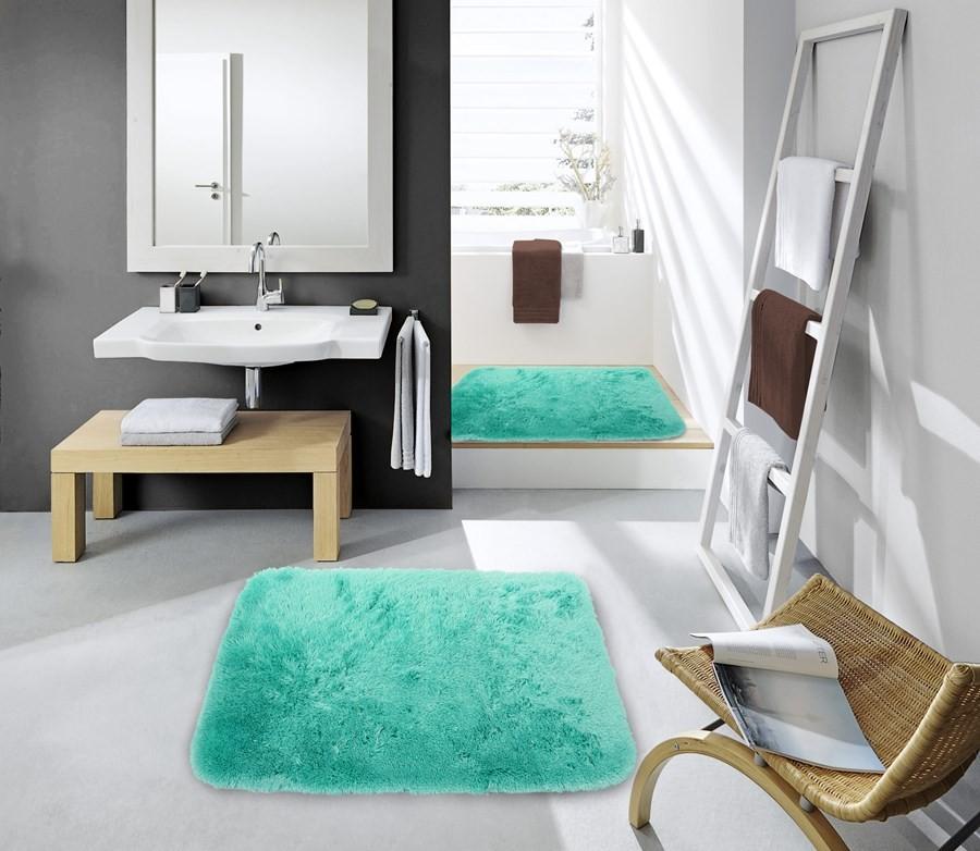 Koupelnové předložky zelené barvy 60 x 90 cm