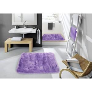 Předložka do koupelny fialové barvy