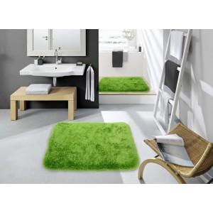 Zelené koberečky do koupelny