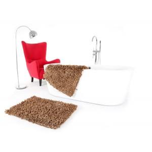 Koupelnový kobereček hnědé barvy