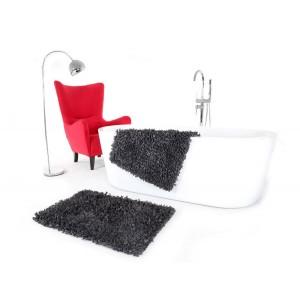 Tmavě šedá předložka do koupelny