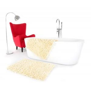 Krémový koupelnový koberec