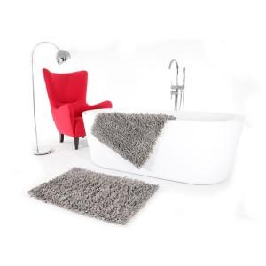 Koupelnový koberec v šedé barvě