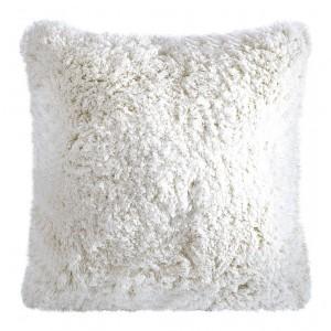 Bílé chlupaté povlečení na polštáře