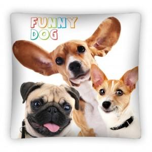 Bílé dětské povlaky na polštáře s motivem psů