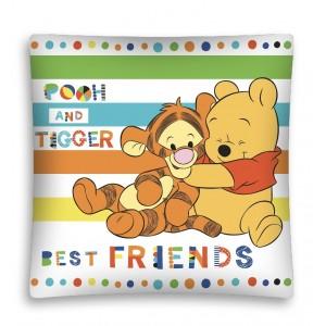Bílý dětský povlak na polštářek s medvídkem Pú