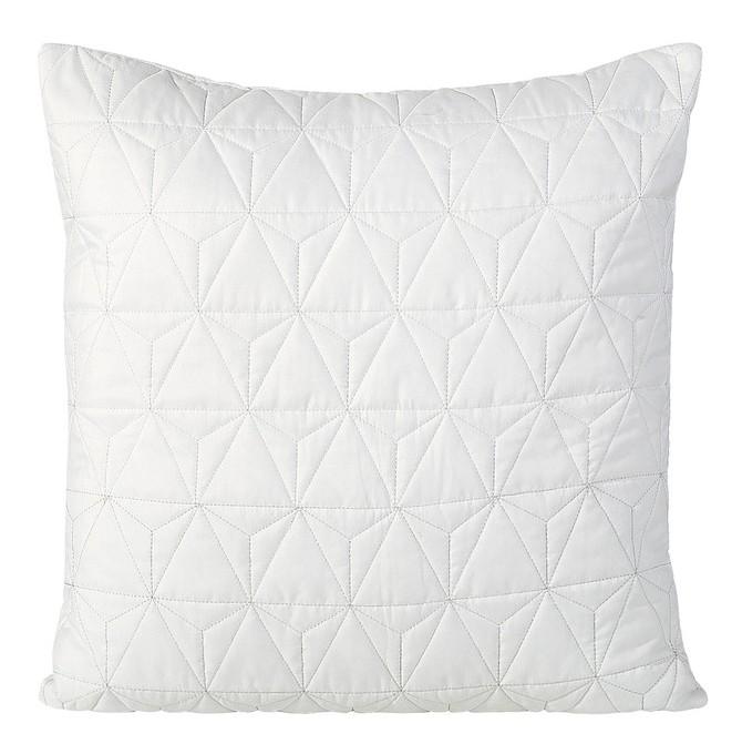 Bílé dekorační povlečení na polštář