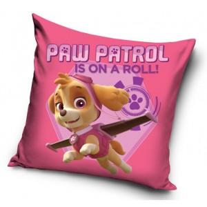 Růžové dekorační povlečení na polštář s motivem Paw Patrol