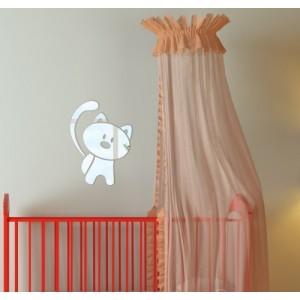 Dětské dekorační zrcadlo ve tvaru kočky