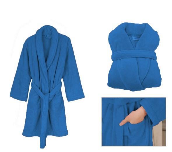 Teplé dámské župany modré barvy