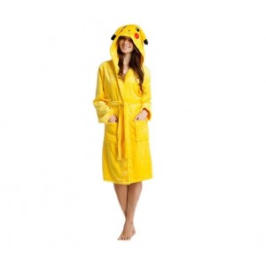 Žluté dámské župany s kapucí PIKACHU