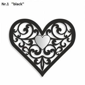 Dekorace na stěnu ve tvaru srdce