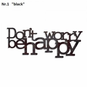 Don't worry be happy dekorace na zeď